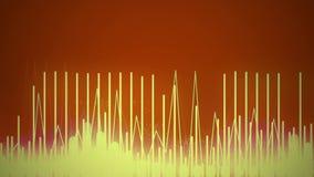 Bakgrund för Waveform för kyligt omgivande filmiskt fotofilter ljudsignal - 30 sekunder vektor illustrationer