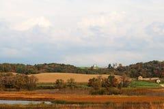 Bakgrund för Wisconsin höstnatur arkivbild
