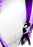 Bakgrund för Zumba konditiondans Arkivfoto