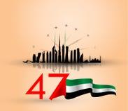 Bakgrund Förenade Arabemiraten för nationell dag royaltyfri illustrationer