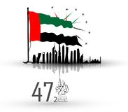 Bakgrund Förenade Arabemiraten för nationell dag vektor illustrationer