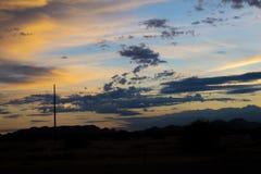 Bakgrund f?r Arizona ?kenlandskap arkivbilder