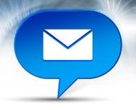 Bakgrund f?r bubbla f?r Emailsymbol bl? royaltyfri illustrationer