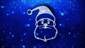 Bakgrund f?r julSanta Claus Mask Element Blinking Icon partiklar vektor illustrationer