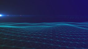 Bakgrund f?r utrymme f?r Digital bakgrund abstrakt polygonal med f?rbindande linjer anslutningsstruktur HUD Science bakgrund stock illustrationer