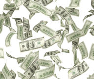 bakgrund fakturerar blått isolerat falla för dollar Arkivbild