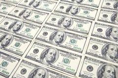 bakgrund fakturerar dollar hundra Fotografering för Bildbyråer