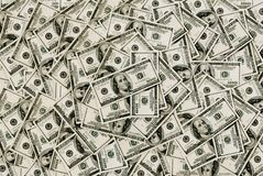 bakgrund fakturerar dollar hundra Royaltyfria Bilder
