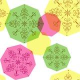 bakgrund flagar illustrationsnowvektorn Arkivfoto