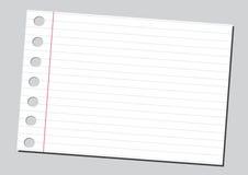 bakgrund fodrad söndersliten white för anteckningsboksidapapper Arkivbild