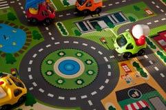 Bakgrund från barns leksaker Leksaker för utvecklingen av unga barn arkivbilder