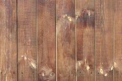 Bakgrund från bruna träbräden med textur Royaltyfria Bilder