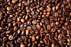 Bakgrund från kaffebönor Arkivfoto