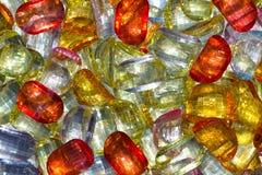 Bakgrund från mång--färgade pärlor Fotografering för Bildbyråer