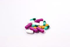 Bakgrund från medicinal tablets Royaltyfri Fotografi