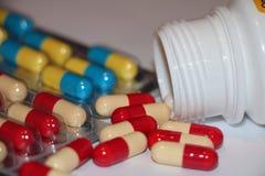 Bakgrund från medicinal tablets Royaltyfri Bild