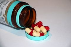 Bakgrund från medicinal tablets Royaltyfria Foton