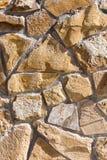 Bakgrund från mosaikväggen med tegelstenar Arkivfoton