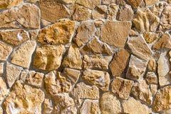Bakgrund från mosaikväggen med tegelstenar Arkivbild