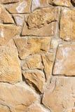 Bakgrund från mosaikväggen med tegelstenar Royaltyfri Foto