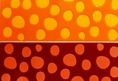 Bakgrund från orange och röda keramiska tegelplattor arkivbild