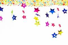 Bakgrund från papper av briljanta stjärnor Arkivfoto