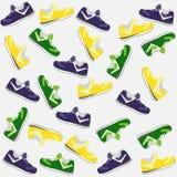 Bakgrund från skor stock illustrationer