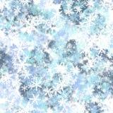 Bakgrund från snowflakes Arkivbilder