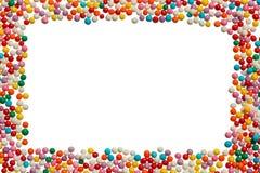 Bakgrund från sockerpärlor för matgarnering Royaltyfri Bild