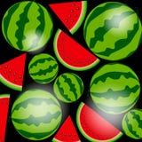 Bakgrund från vattenmelon också vektor för coreldrawillustration Royaltyfria Bilder