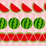 Bakgrund från vattenmelon också vektor för coreldrawillustration Royaltyfri Bild