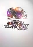 Bakgrund för amerikansk fotboll Arkivfoton