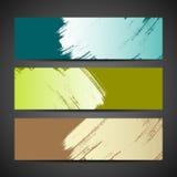 Bakgrund för baner för målarfärgborste färgrik Arkivfoton