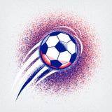Bakgrund 2016 för den eurofotbollmästerskapet med bollen och den Frankrike flaggan färgar Kärvhettextur Arkivfoton