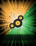 Bakgrund för disko och musikalhändelsereklamblad Royaltyfria Bilder