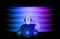 Bakgrund för disko och musikalhändelsereklamblad Arkivbild