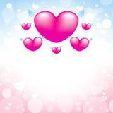 Bakgrund för förälskelsehjärtarosa färger Royaltyfri Foto