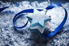 Bakgrund för julstjärnaplats Royaltyfri Fotografi