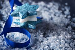 Bakgrund för julstjärnaplats Royaltyfri Foto
