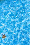 Bakgrund för krusning för blått vatten för konsthav Arkivfoton