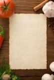 Bakgrund för matlagningrecept Arkivbild