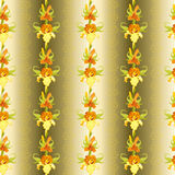 Bakgrund för modell för gul svärdsliljablomma sömlös Royaltyfri Bild