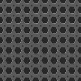 Bakgrund för modell för metallraster sömlös Arkivfoto