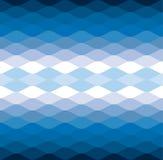 Bakgrund för modell för vektor för blått vågvatten kall Royaltyfri Fotografi