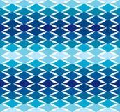 Bakgrund för modell för vektor för blått vågvatten kall Royaltyfria Bilder