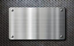 Bakgrund för rostfritt stålmetallplatta Arkivfoton