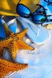 Bakgrund för strand för Art Summer feriehav Arkivfoto