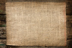 Bakgrund för tappning för Burlapjutekanfas Arkivbild