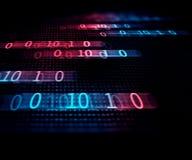 Bakgrund för teknologi för abstrakt begrepp för Digital kodnummer Arkivbilder
