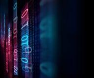 Bakgrund för teknologi för abstrakt begrepp för Digital kodnummer Royaltyfri Fotografi